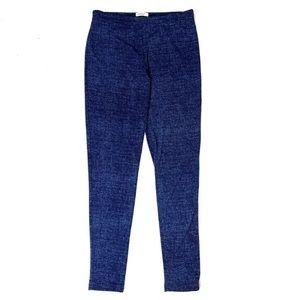 Clara Sun Woo Blue Denim Print leggings Size S